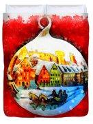 Christmas Ball Ball Duvet Cover