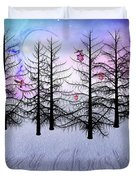 Christmas Bare Trees Duvet Cover