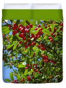 Christmas Berries Duvet Cover