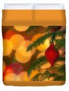 Christmas Bokeh Duvet Cover