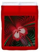 Christmas Butterfly Fractal 63 Duvet Cover
