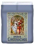 Christmas Cards, C1886 Duvet Cover