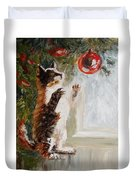 Christmas Cat Duvet Cover