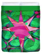 Christmas Celebration Abstract Painting Duvet Cover