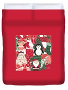 Christmas Collage Duvet Cover