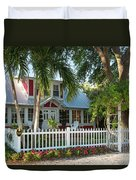 Christmas Cottage - Naples Duvet Cover