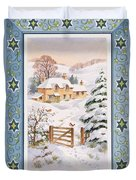 Christmas Cottage Duvet Cover