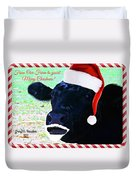 Christmas Cow Greeting Duvet Cover