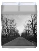 Christmas Day Country Road Duvet Cover