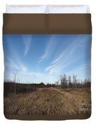 Christmas Day In The Country Duvet Cover