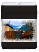 Christmas Down The Alleyway Duvet Cover