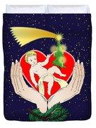 Christmas Eve- Nativity Duvet Cover