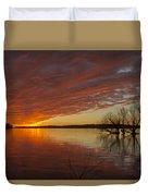 Christmas Eve Sunset  Duvet Cover