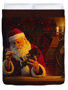 Christmas Eve Touch Up Duvet Cover by Greg Olsen