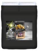 Christmas Golden Gift  Duvet Cover