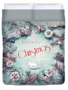 Christmas Greeting Card, By Imagineisle Duvet Cover