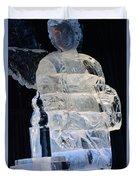 Christmas Ice Sculpture Angel Duvet Cover