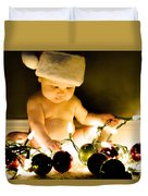 Christmas In A Baby's Eyes Duvet Cover