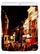 Christmas In Amsterdam Duvet Cover