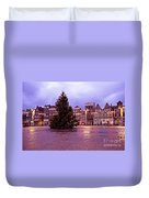 Christmas In Amsterdam The Netherlands Duvet Cover