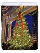 Christmas In Chicago Duvet Cover