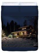Christmas In Finland Duvet Cover