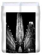 Christmas In New York City Duvet Cover