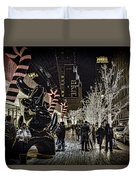 Christmas In Nyc Duvet Cover