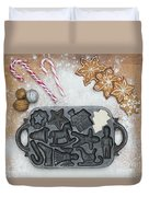 Christmas Interior With Sweets And Vintage Kitchen Tools Duvet Cover