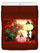 Christmas Lamps Duvet Cover