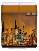 Christmas Lights And Bottles 4197t Duvet Cover
