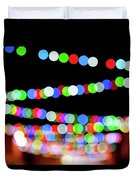 Christmas Lights Bokeh Blur Duvet Cover