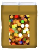 Christmas Lights Duvet Cover by Carlos Caetano