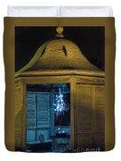 Christmas Lights In Gazebo Duvet Cover