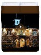 Christmas Lights In Sonoma, California Duvet Cover