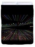 Christmas Lights Zoom Blur Duvet Cover