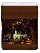 Christmas Market At The Vienna City Hall Duvet Cover