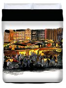 Christmas Market Recklinghausen Duvet Cover