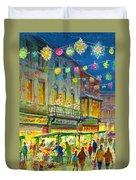 Christmas Market Duvet Cover