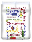Christmas Message  -  Typography Duvet Cover