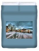 Christmas On Main Street Duvet Cover