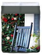 Christmas On The Porch Duvet Cover