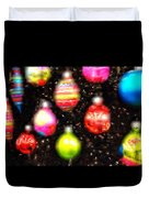 Christmas Ornaments Abstract One Duvet Cover