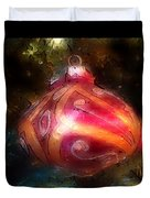 Christmas Ornaments Abstract Two Duvet Cover