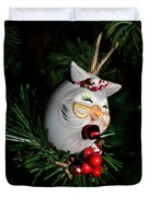 Christmas Owl Duvet Cover