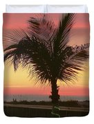 Christmas Palm Duvet Cover
