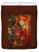 Christmas Parlor Fashions For Evergreens Event Hotel Roanoke 2009 Duvet Cover