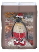 Christmas Penguin Duvet Cover