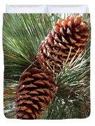 Christmas Pine Cones Duvet Cover
