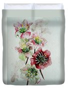 Christmas Rose Duvet Cover